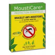 Mousticare - Bracelet anti-moustiques ajustable jaune et vert