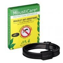 Mousticare - Bracelet anti-moustiques ajustable noir