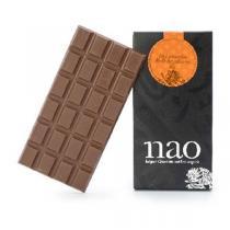 Nao Chocolat Belge - Tablette Chocolat Lait Noisette à la Pièce 90g