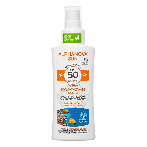 Alphanova - Spray solaire SPF50 format voyage 90g