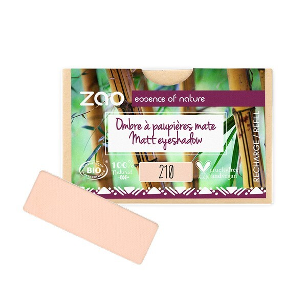 Zao MakeUp - Recharge ombre a paupieres mate 210 Rose peche