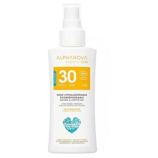Alphanova - Spray solaire SPF30 format voyage 90g