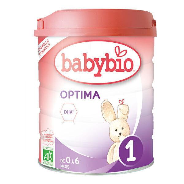 Babybio - Lot de 6 Optima 1 lait pour nourrissons 1er âge bio 800g