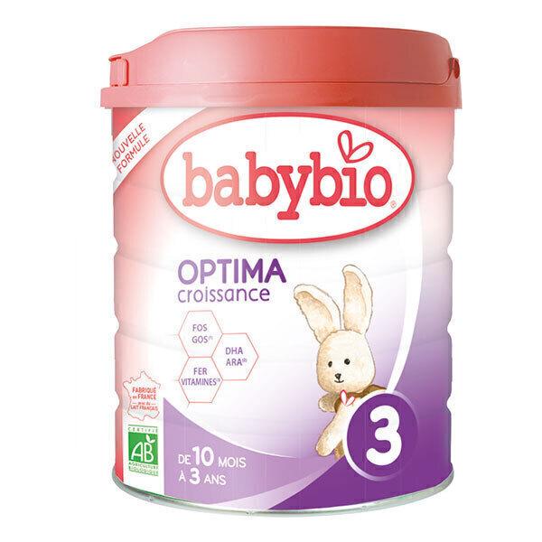 Babybio - Lot de 6 Optima 3 lait de croissance 800g