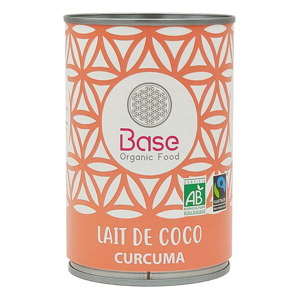 Base Organic Food - Lait de Coco Curcuma 40cl