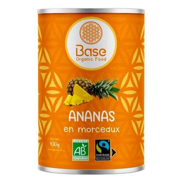 Base Organic Food - Ananas en morceaux 400g
