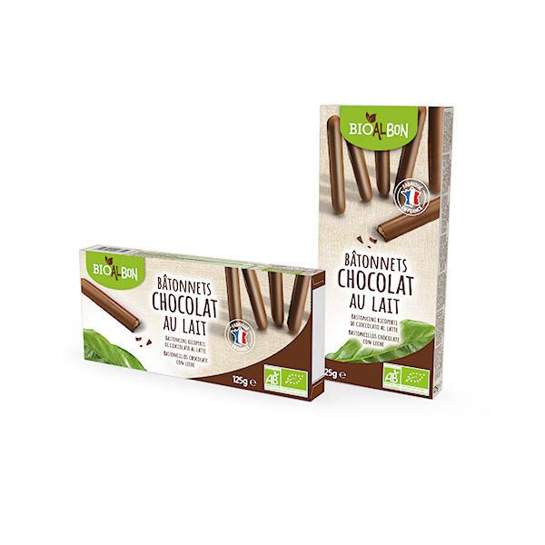 Bioalbon - Bâtonnets chocolat lait 125g