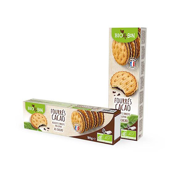 Bioalbon - Biscuits fourrés cacao 185g