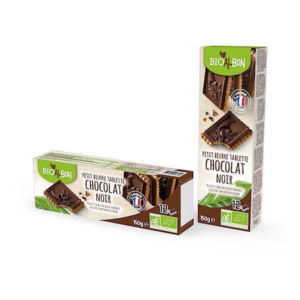Bioalbon - Petit beurre tablette de chocolat noir 150g