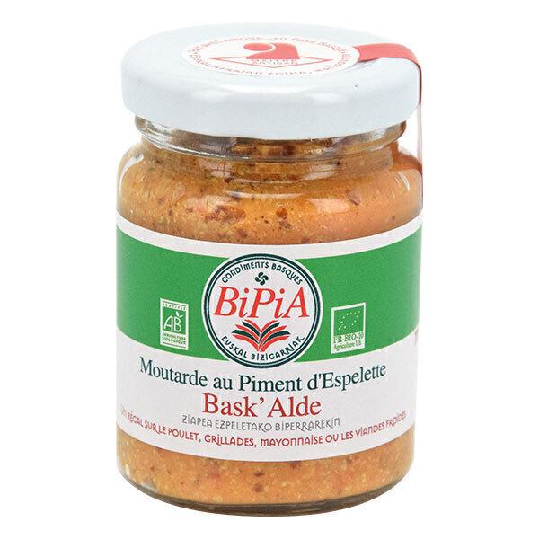 Bipia - Bask'Alde, Moutarde au piment d'Espelette 90g