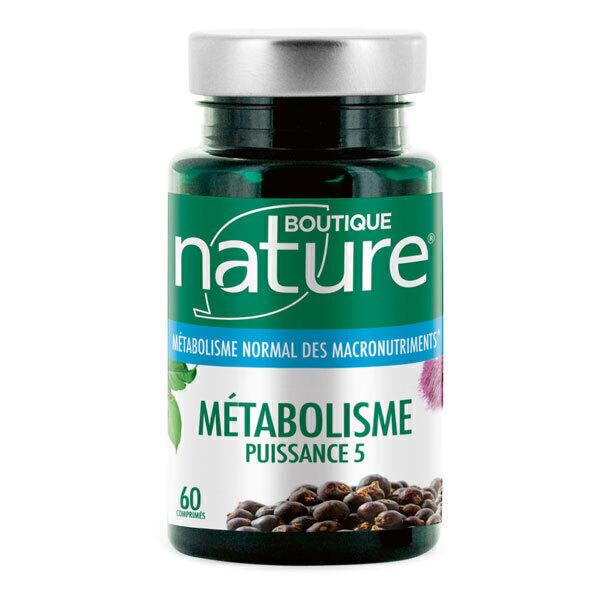 Boutique Nature - Métabolisme Puissance 5 60 comprimés