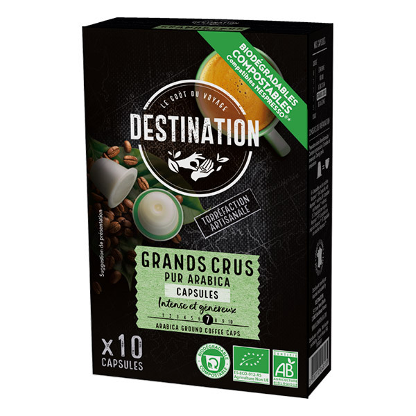 Destination - Grands Crus pur arabica Capsules x10