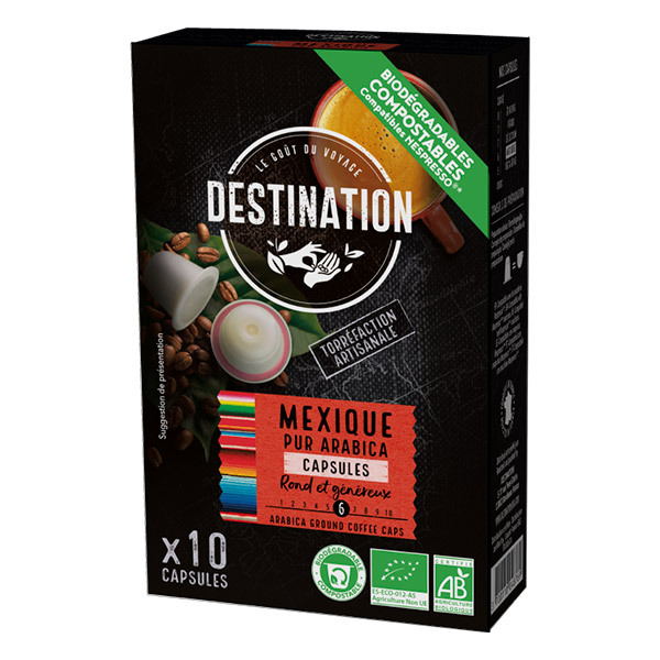 Destination - Mexique pur arabica Capsules x10