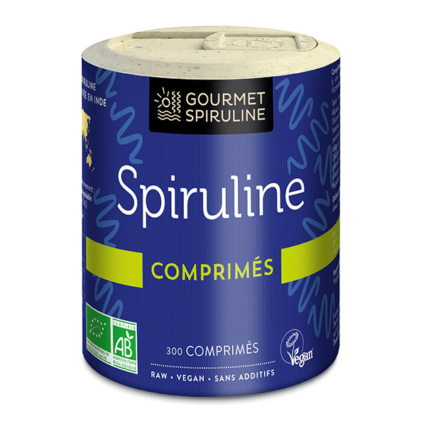 Gourmet Spiruline - Spiruline 300 comprimés