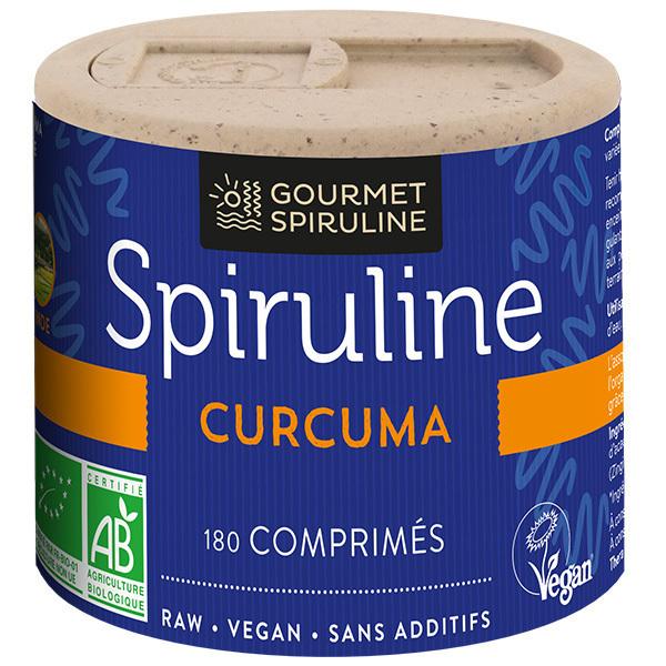 Gourmet Spiruline - Spiruline Curcuma 180 comprimés