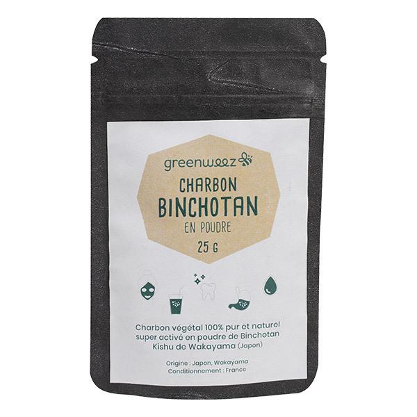 Greenweez - Charbon végétal Binchotan japonais en poudre 25g