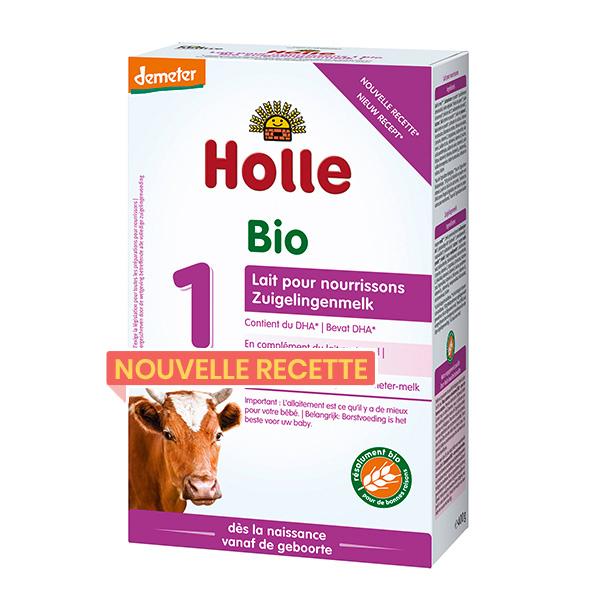 Holle - Lot de 6 x Lait nourrissons 1er âge bio & Demeter 400g
