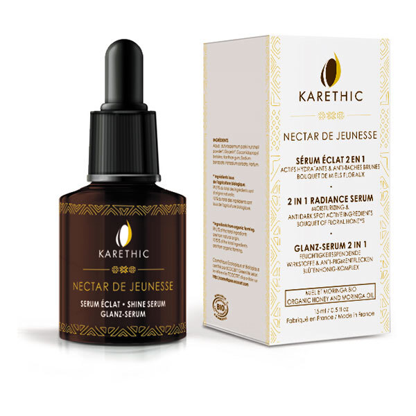 Karethic - Sérum éclat 2en1 unifiant & anti-tâches Nectar jeunesse BIO 30ml