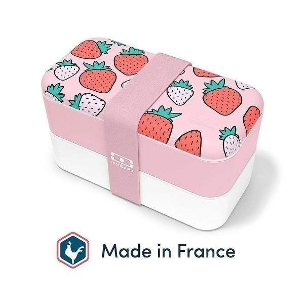 monbento - Bento MB Original made in France graphic Strawberry 1L