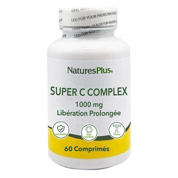 Nature's Plus - Super C Complex 1000mg 60 comprimés LP