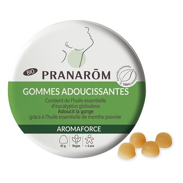 Pranarôm - Gommes adoucissantes Menthe Eucalyptus 45g