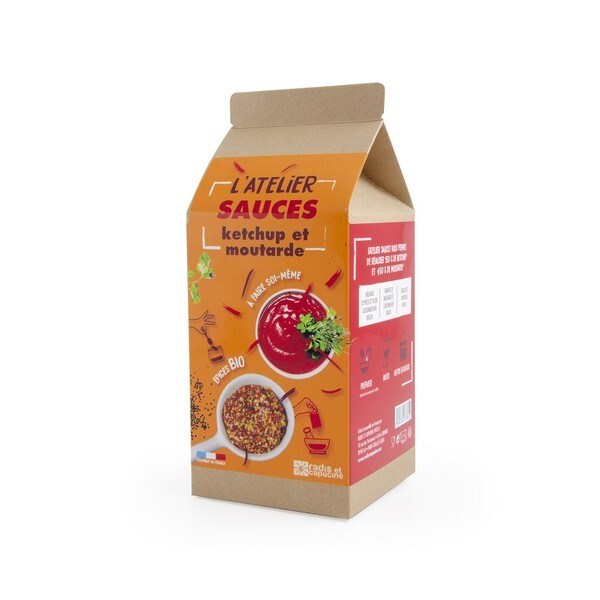Radis et Capucine - Coffret DIY sauces Ketchup et Moutarde bio