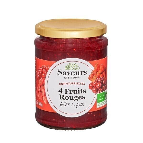 Saveurs Attitudes - Confiture extra 4 fruits rouges 600g
