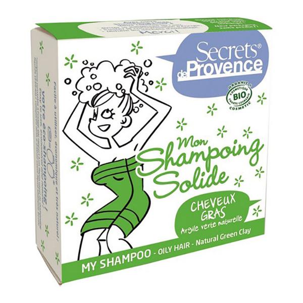 Secrets de Provence - Shampoing solide cheveux gras argile verte 85g
