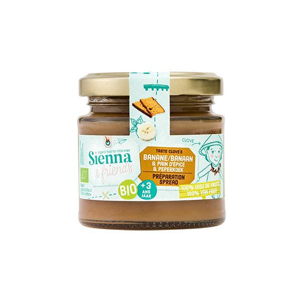 Sienna & Friends - Préparation banane façon pain d'épices 125g - Dès 36 mois