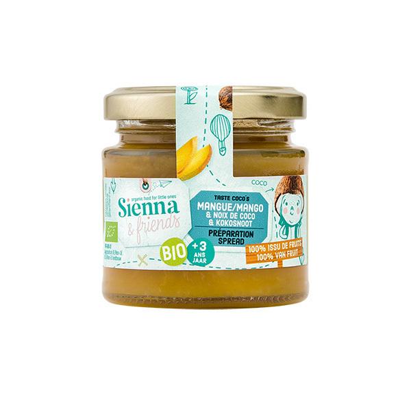 Sienna & Friends - Préparation mangue et noix de coco 125g - Dès 36 mois