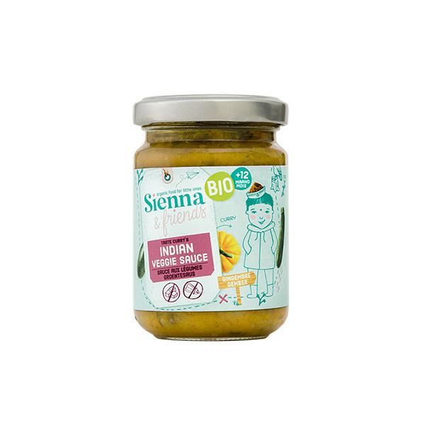 Sienna & Friends - Sauce indienne aux légumes 130g - Dès 10 mois