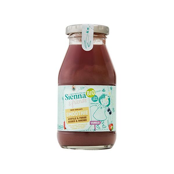 Sienna & Friends - Smoothie myrtille fraise et vanille 200ml - Dès 24 mois