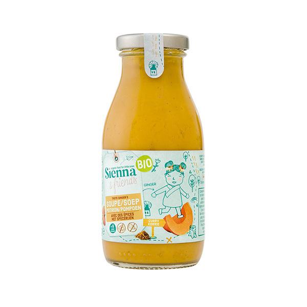 Sienna & Friends - Soupe au potiron avec des épices 260ml - Dès 6 mois