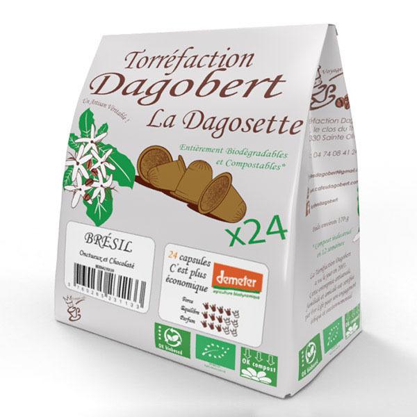 Les cafés Dagobert - Dagosette Brésil Bio Demeter x24