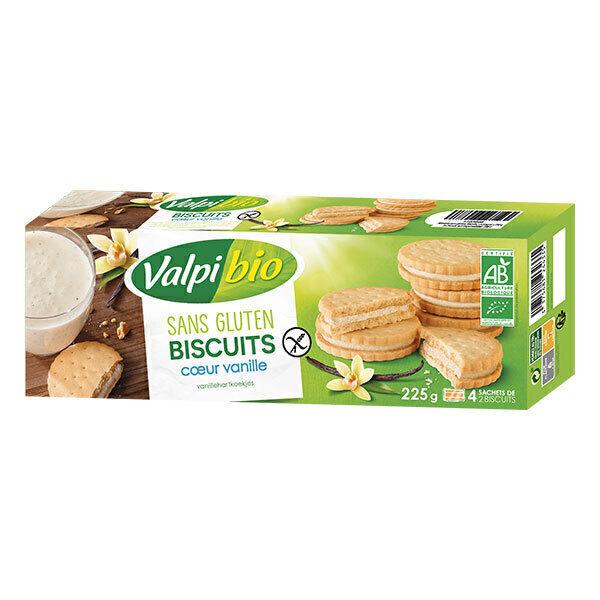 Valpibio - Biscuit Coeur Vanille 225g