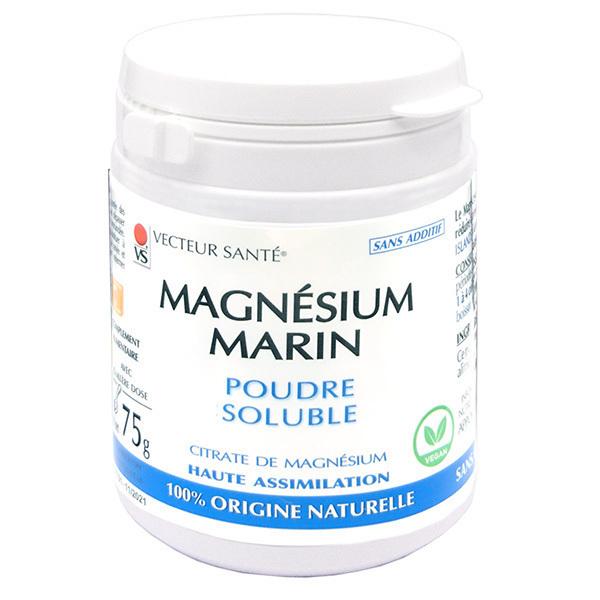 Vecteur Santé - Magnésium Marin en Poudre (citrate de magnésium) - Pot de 75g
