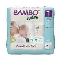 Bambo Nature - 22 couches écologiques T1 XS 2-4 kg