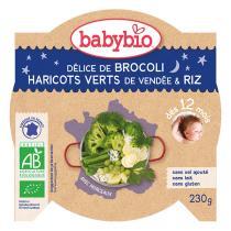 Babybio - Brocolis haricots verts et riz Bonne Nuit 230g - Dès 12 mois