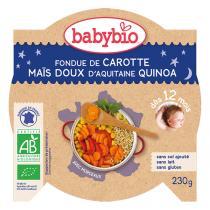 Babybio - Carotte maïs doux et quinoa Bonne Nuit 230g - Dès 12 mois