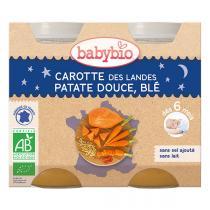 Babybio - Carotte patate douce et blé Bonne Nuit 2x200g - Dès 6 mois