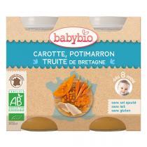 Babybio - Carotte potimarron et truite 2x200g - Dès 8 mois