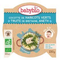 Babybio - Haricots verts et truite 230g - Dès 12 mois