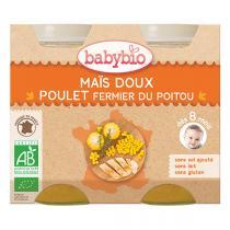 Babybio - Maïs doux et poulet 2x200g - Dès 8 mois