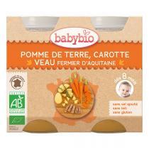 Babybio - Pomme de terre carotte et veau 2x200g - Dès 8 mois