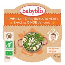 Babybio - Pommes de terre haricots verts et dinde 230g - Dès 12 mois