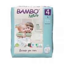 Bambo Nature - Pack 4x24 couches écologiques T4 L 7-14kg