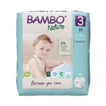 Bambo Nature - Pack 4x28 couches écologiques T3 M 4-8 kg