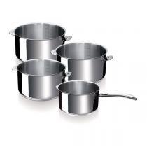 Beka - Set de 4 casseroles inox Evolution avec poignée amovible