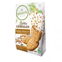 Bisson - Sablés céréales graines chia & lin 200g