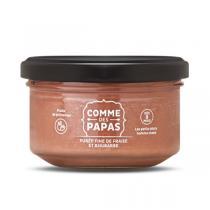 Comme des Papas - Compote fine de rhubarbe et fraise - Dès 8 mois - 130g